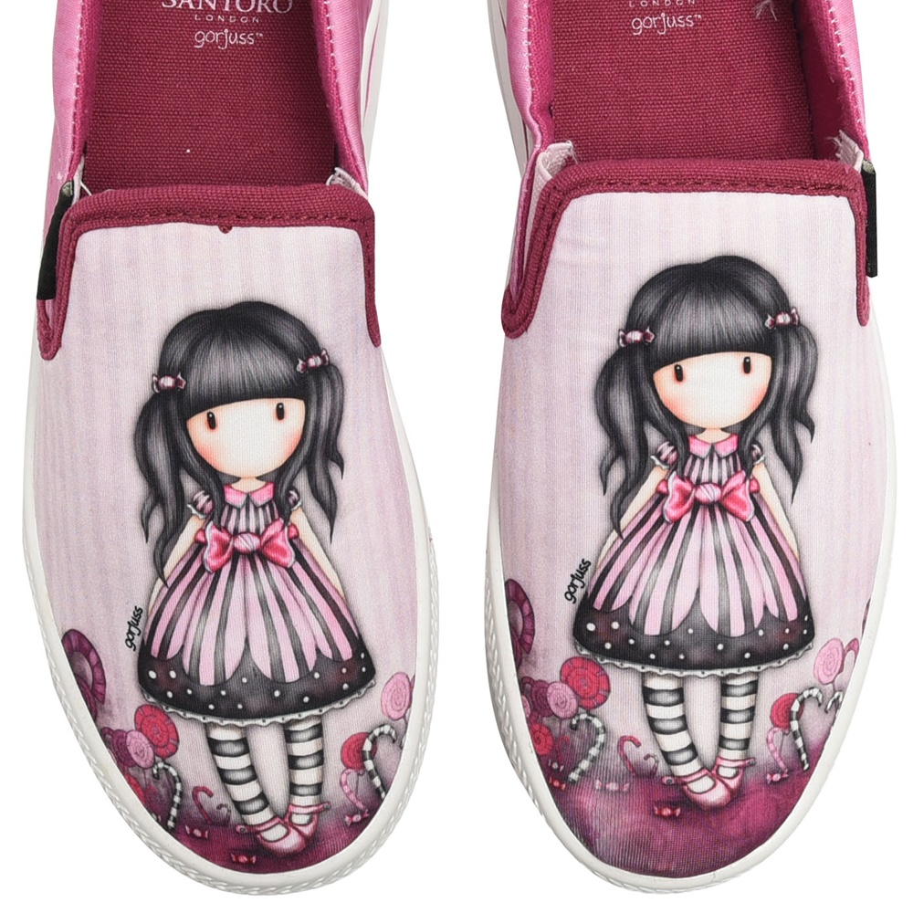 SANTORO Gorjuss - Παιδικά slip-ons SANTORO Gorjuss ροζ παιδικά girls παπούτσια εσπαντρίγιες slip on