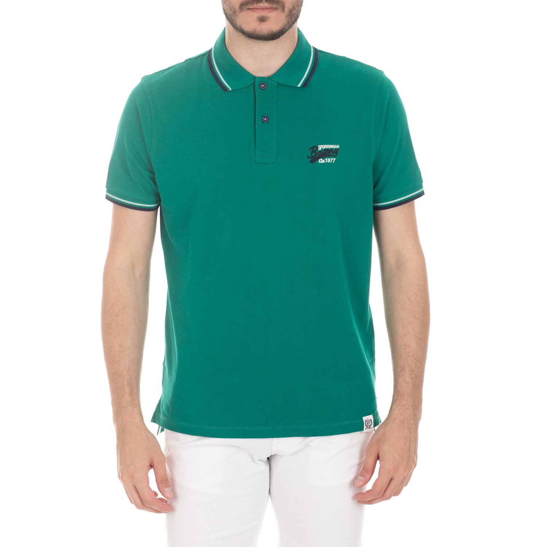 BATTERY - Ανδρική μπλούζα BATTERY πράσινη