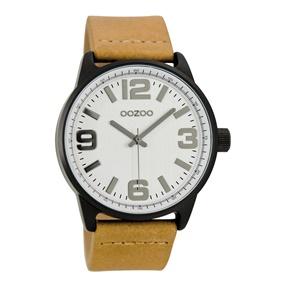 efb2a721c3e8 OOZOO. Unisex δερμάτινο ρολόι ...