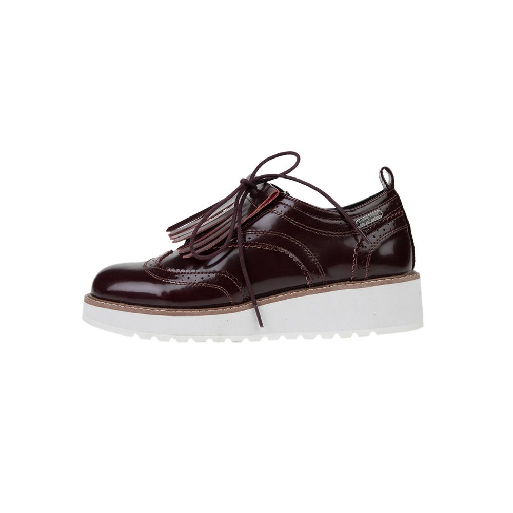 PEPE JEANS – Γυναικεία παπούτσια oxford RAMSY TASSEL καφέ