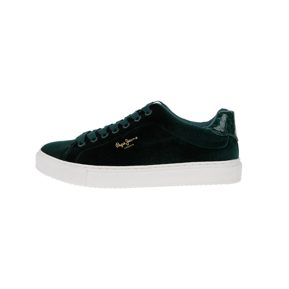 PEPE JEANS – Γυναικεία sneakers PEPE JEANS SHOES ADAMS πράσινα