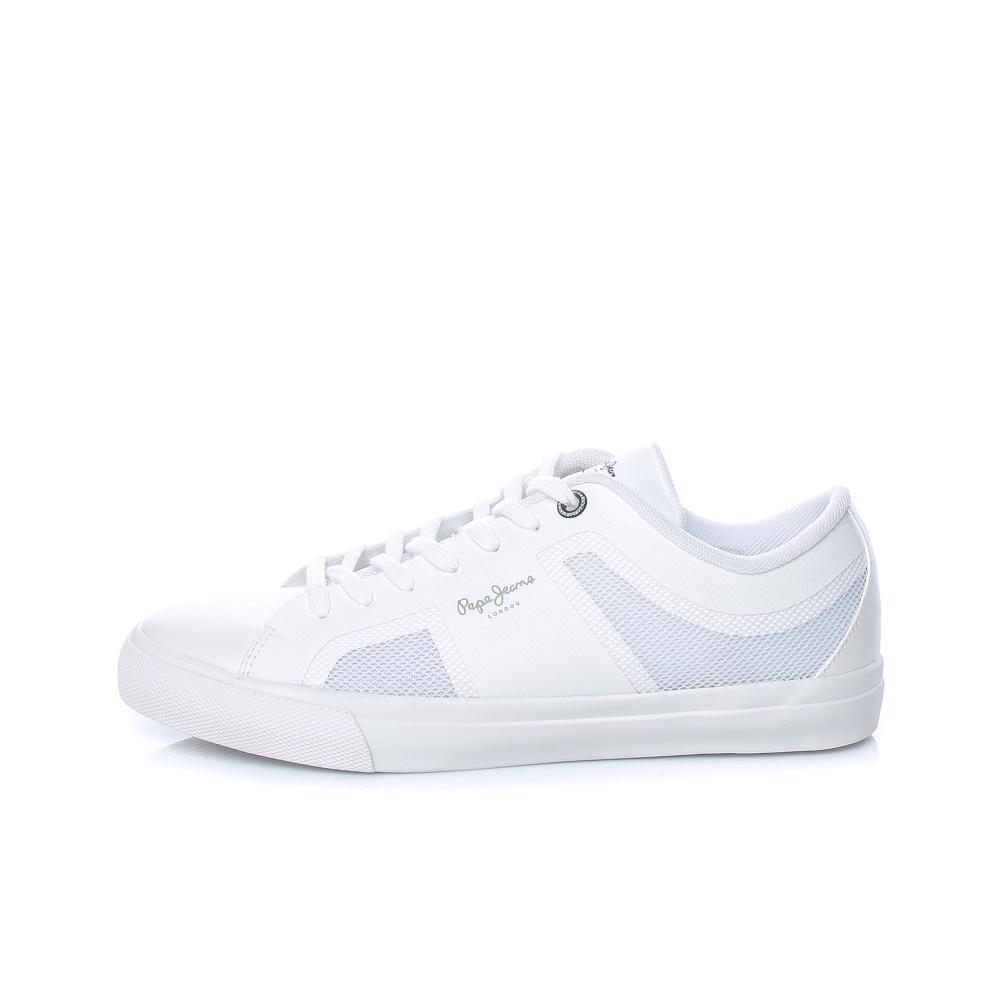 PEPE JEANS – Ανδρικά παπούτσια PEPE JEANS HARPER MESH λευκά