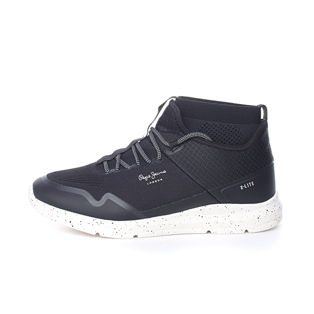 PEPE JEANS – Ανδρικά παπούτσια PEPE JEANS SHOES WADE KNITSOCK μαύρα