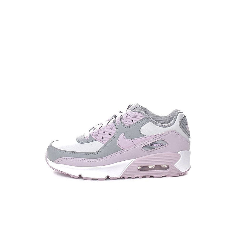 NIKE – Παιδικά παπούτσια running NIKE AIR MAX 90 LTR (GS) γκρι-ροζ