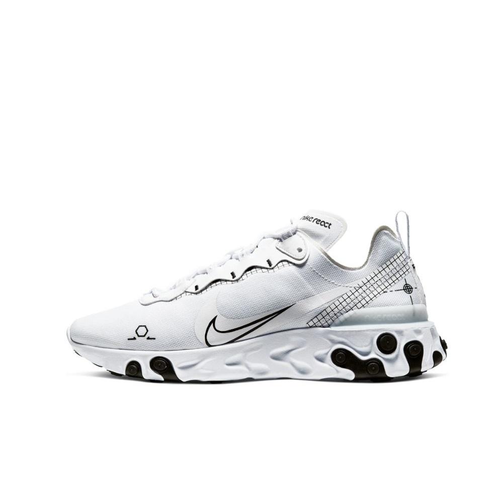 NIKE – Ανδρικά παπούτσια running NIKE REACT ELEMENT 55 λευκά