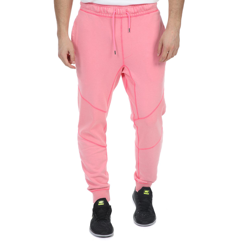 NIKE - Ανδρικό παντελόνι φόρμας NIKE WINGS FLEECE PANT LOOP ροζ