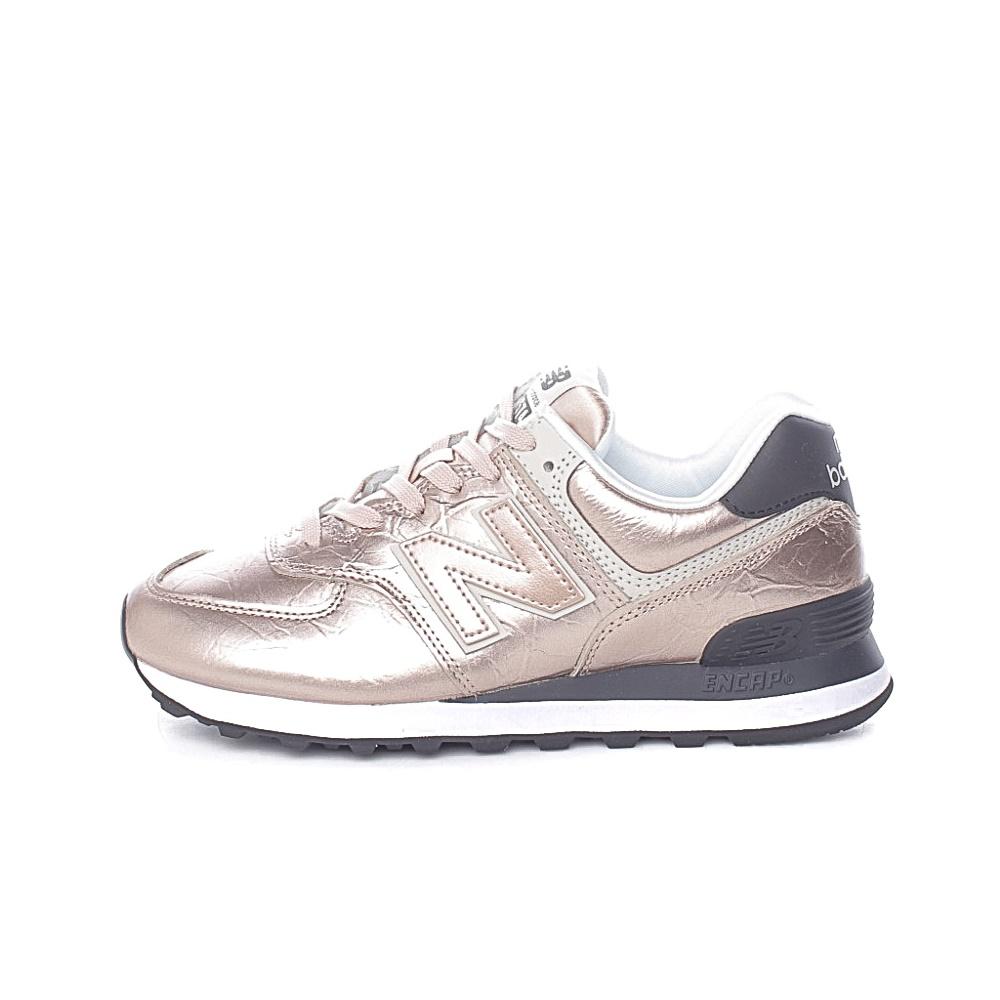NEW BALANCE – Γυναικεία sneakers NEW BALANCE 574 CLASSIC μπεζ χρυσό