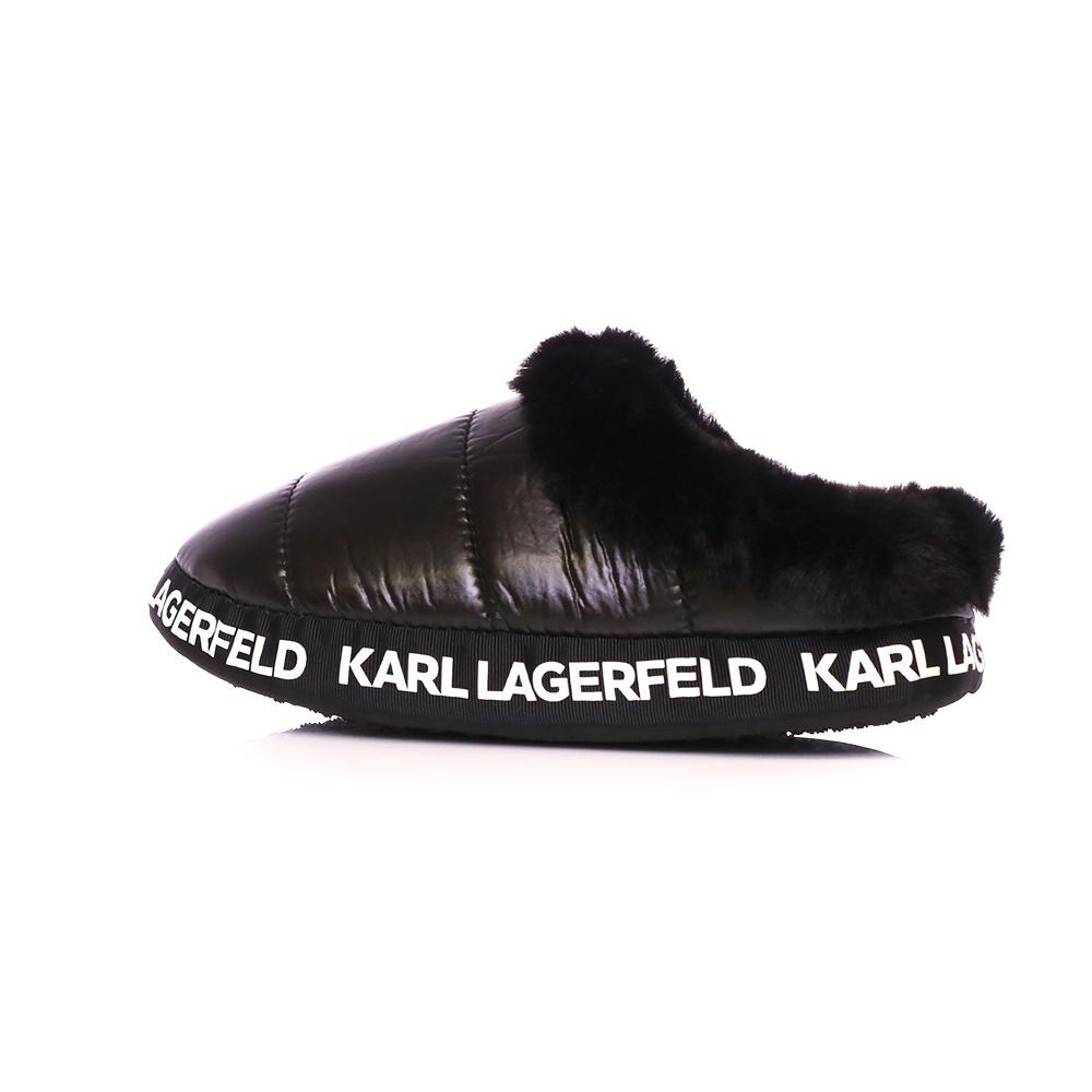 KARL LAGERFELD – Γυναικείες παντόφλες KARL LAGERFELD KL49101 Puff Slipper μαύρες