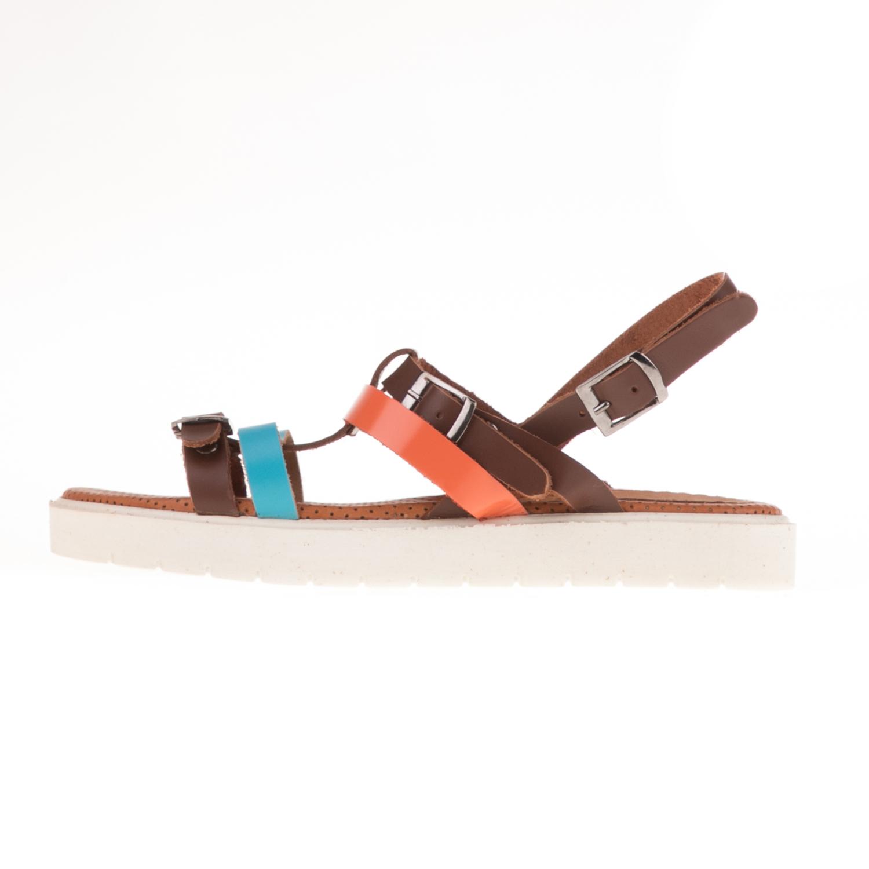 AR POD – Γυναικεία σανδάλια AR POD καφέ-πολύχρωμα