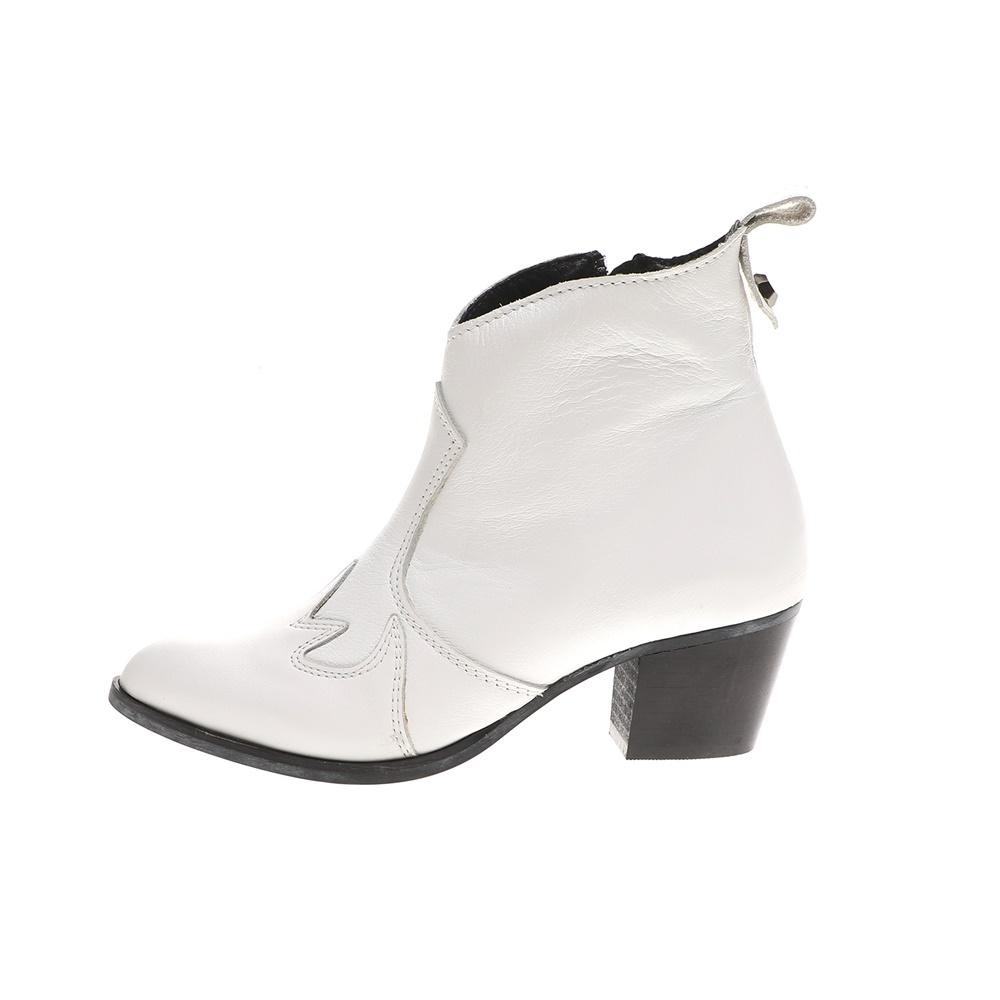 WALL STREET – Γυναικεία μποτάκια ADAMS WALL STREET λευκά