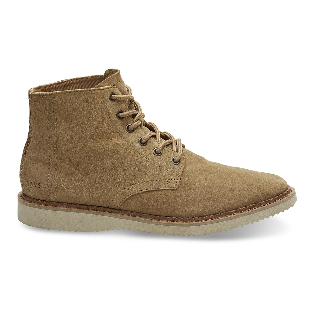 TOMS – Ανδρικά μποτάκια TOMS TOFFEE SUEDE PORTER BOOT καφέ
