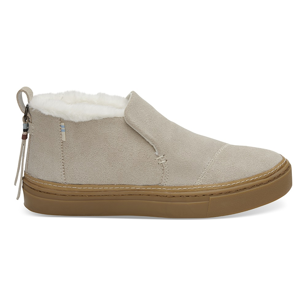 TOMS – Γυναικεία sneakers TOMS BIRCH SUEDE FAUX FUR WR μπεζ