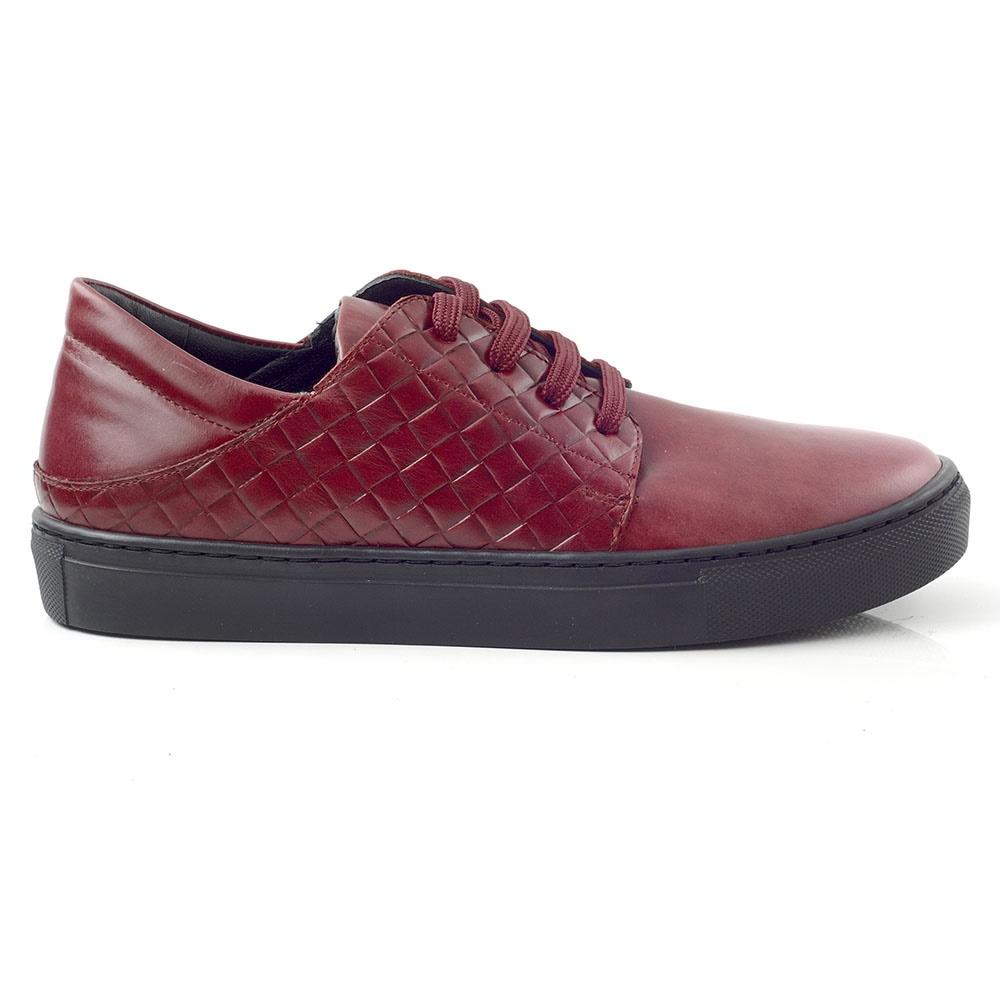 CHANIOTAKIS – Γυναικεία sneakers AIR JORDAN 1 LOW CHANIOTAKIS μπορντό