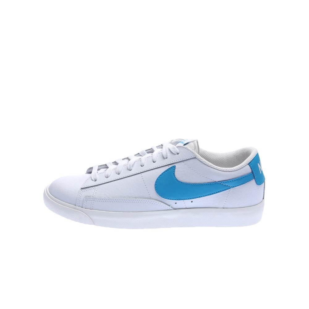 NIKE – Ανδρικά sneakers NIKE BLAZER LOW LEATHER λευκά-μπλε