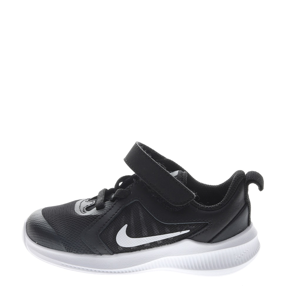 NIKE – Βρεφικά αθλητικά παπούτσια NIKE DOWNSHIFTER 10 (TDV) μαύρα λευκά