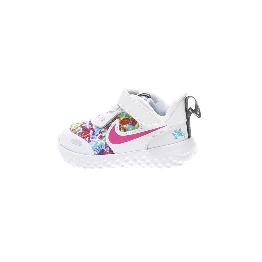 NIKE – Βρεφικά αθλητικά παπούτσια NIKE REVOLUTION 5 FABLE (TDV) λευκά