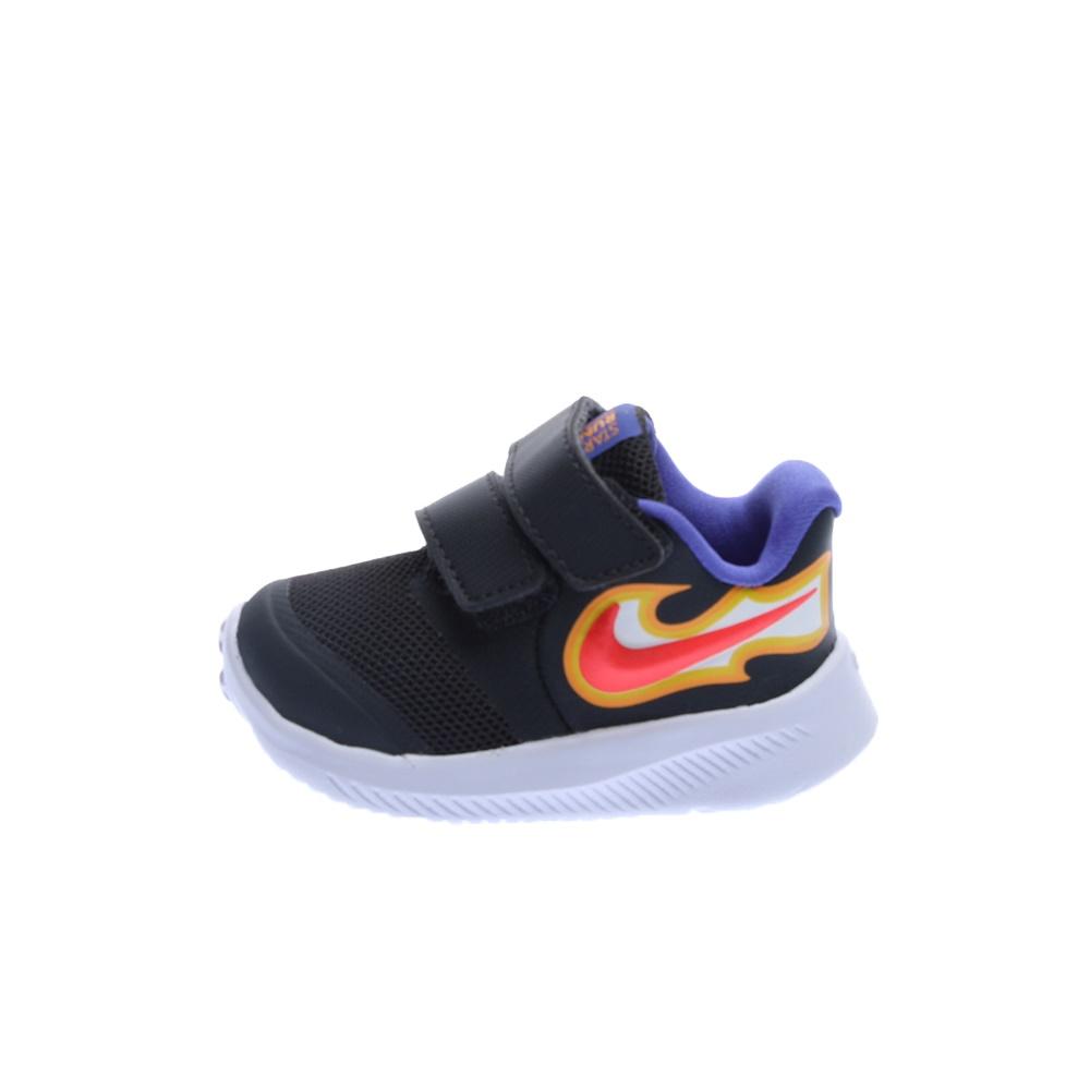 NIKE – Βρεφικά παπούτσια NIKE STAR RUNNER 2 FIRE (TDV) μαύρα