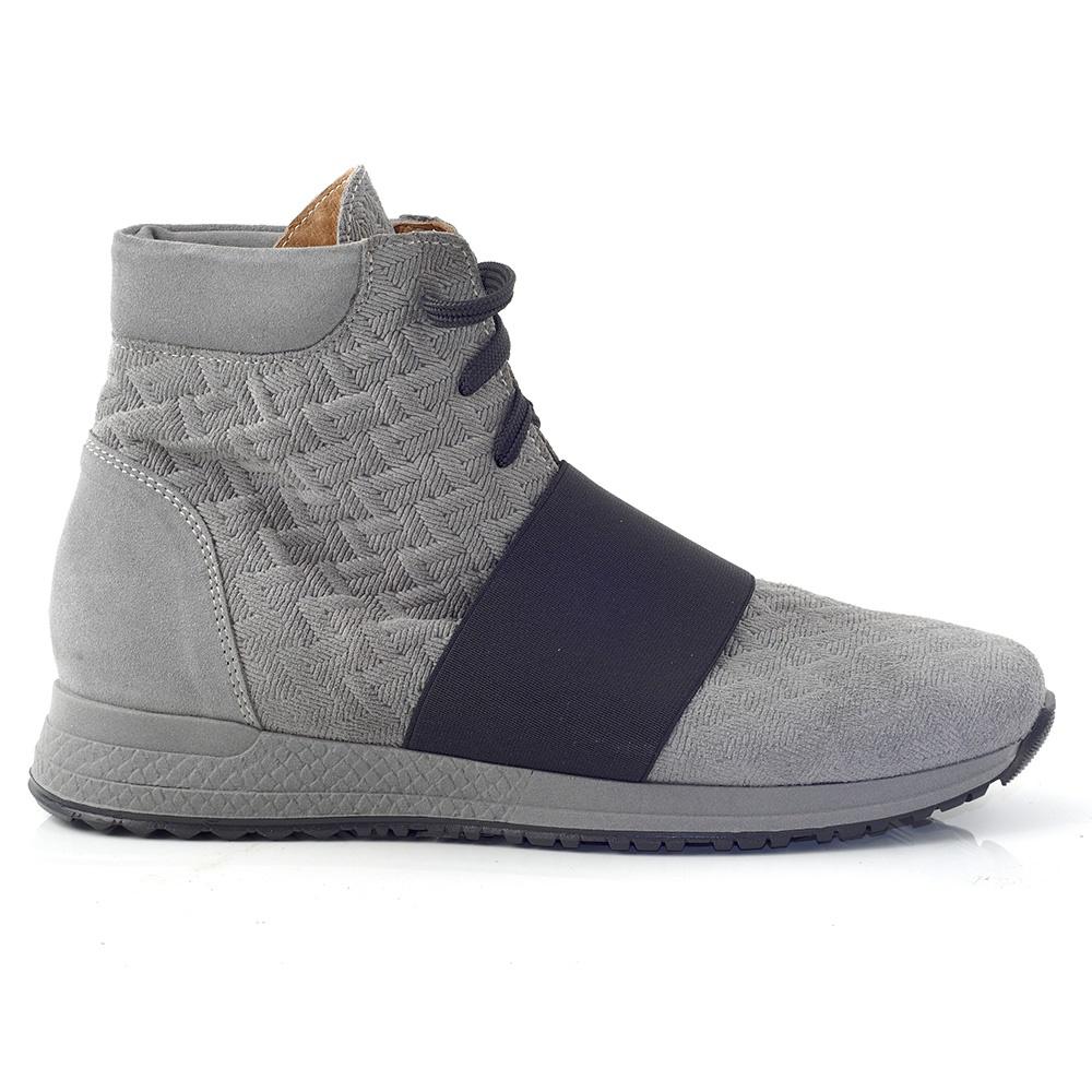 CHANIOTAKIS – Γυναικεία ψηλά sneakers SPORT ADRIANO CHANIOTAKIS γκρι