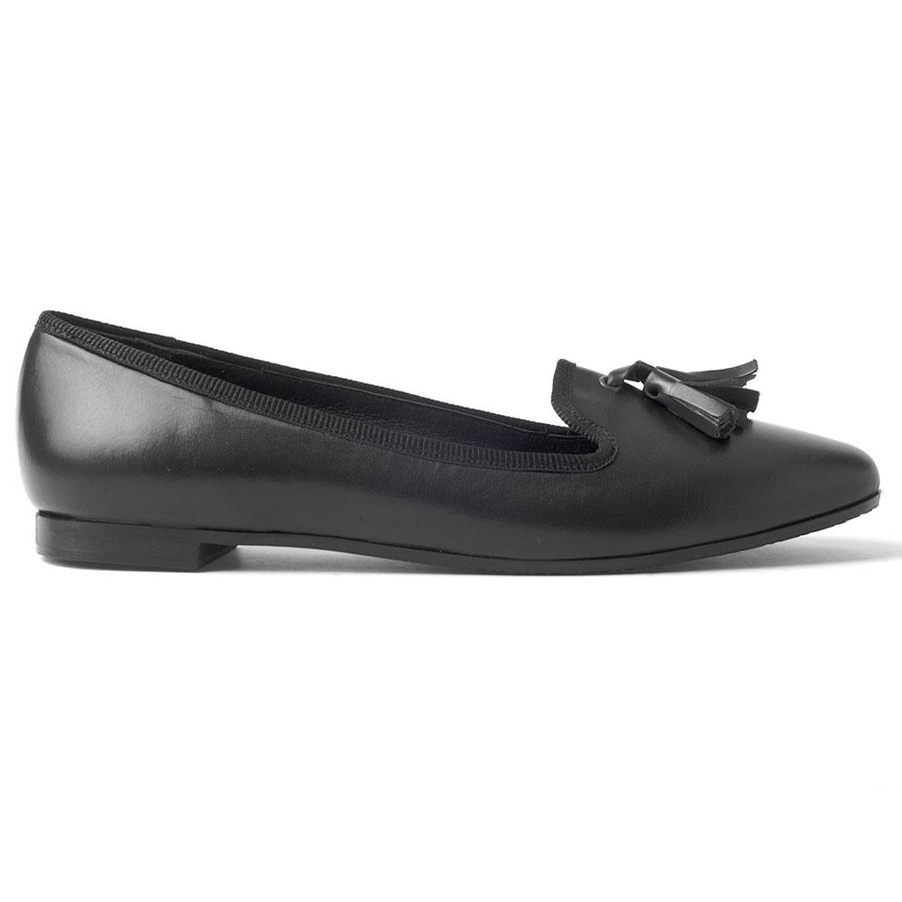 CHANIOTAKIS – Γυναικεία δερμάτινα loafers CHANIOTAKIS μαύρα