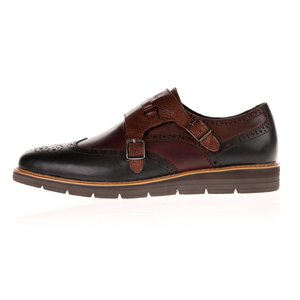 VERSACE 19V69 ABBIGLIAMENTO SPORTIVO SRL – Ανδρικά παπούτσια MONK BROGUE V1969 YO K15-9 καφέ μπλε