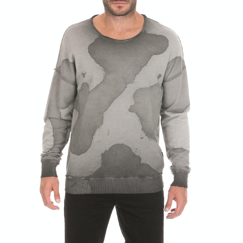BODYTALK - Ανδρική φούτερ μπλούζα BODYTALK SSM CAMO μαύρη γκρι