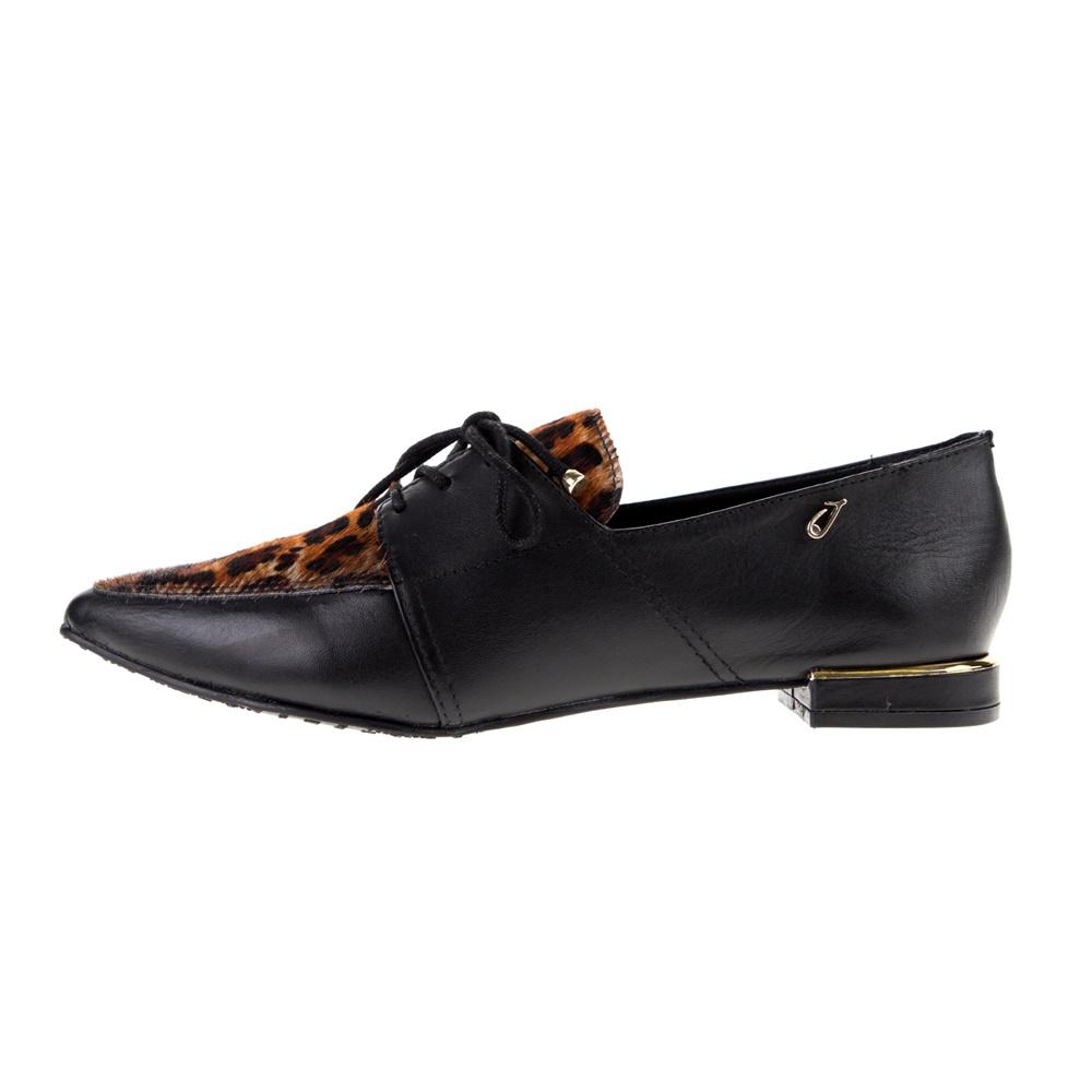 JOY'S – Γυναικεία loafers JOY'S μαύρα λεοπάρ