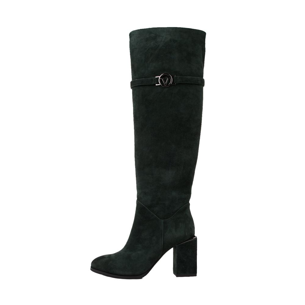 VERSACE 19V69 ABBIGLIAMENTO SPORTIVO SRL – Γυναικείες μπότες VERSACE 19V69 HIGH HEEL BOOT SUED πράσινες
