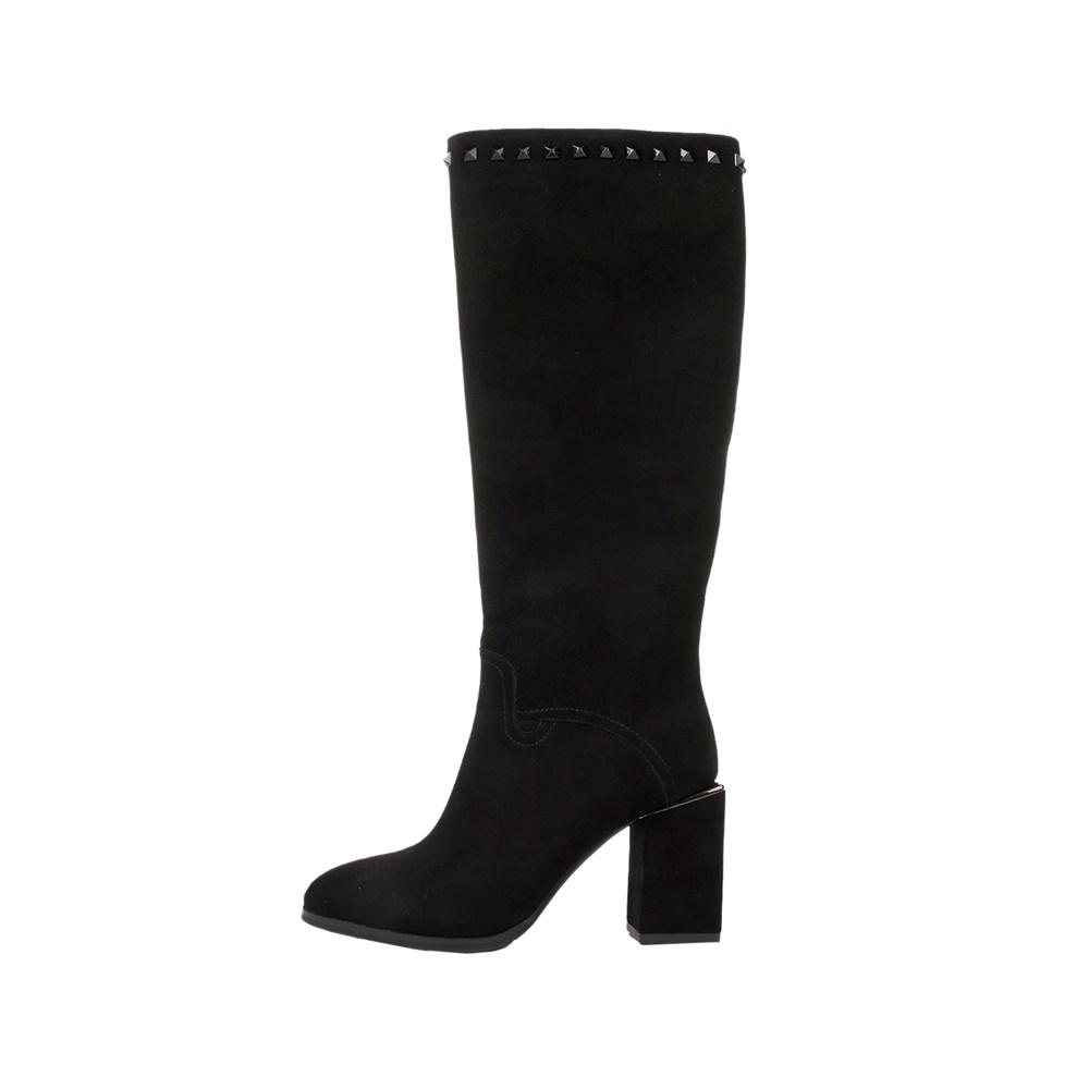 VERSACE 19V69 ABBIGLIAMENTO SPORTIVO SRL – Γυναικείες μπότες VERSACE 19V69 THICK HEEL KNEE BOO μαύρες