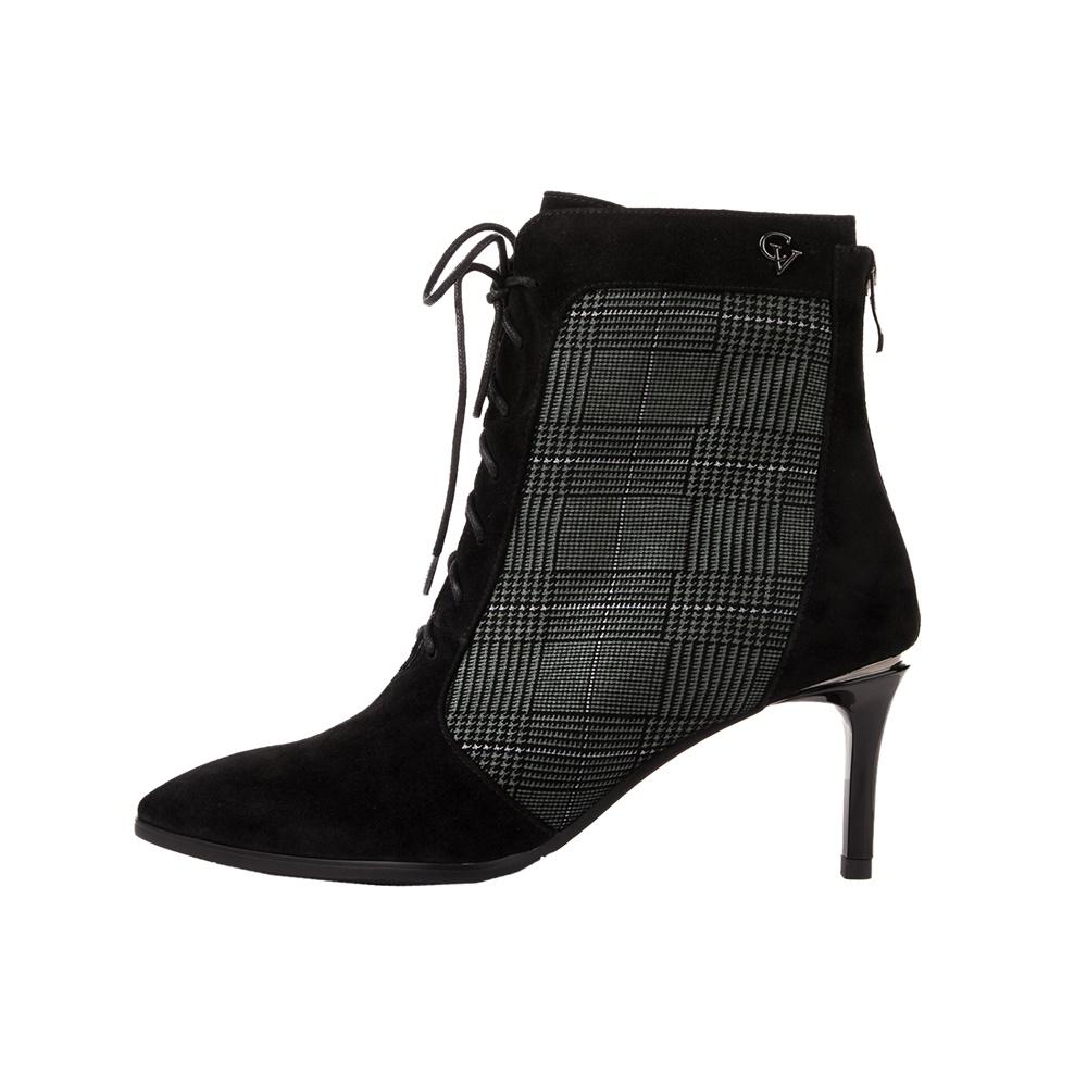 CHEVALIER – Γυναικεία μποτάκια CHEVALIER ANKLE BOOT μαύρα γκρι