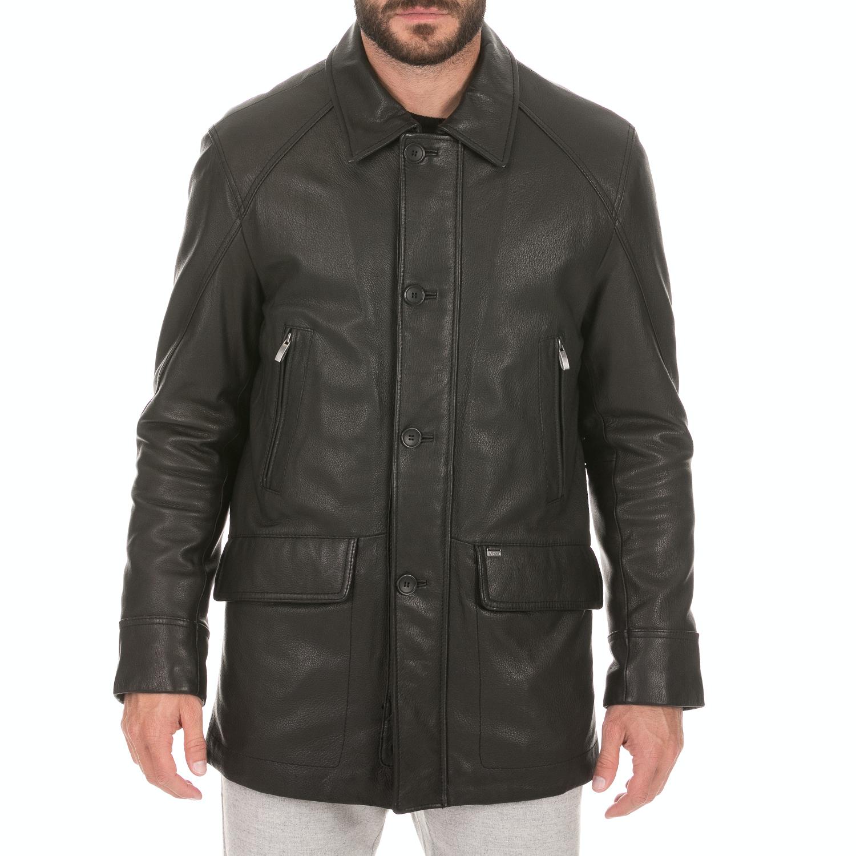 ARMA MAYS & ROSE - Ανδρικό δερμάτινο jacket Deer Nappa Carlton ARMA MAYS & ROSE μαύρο