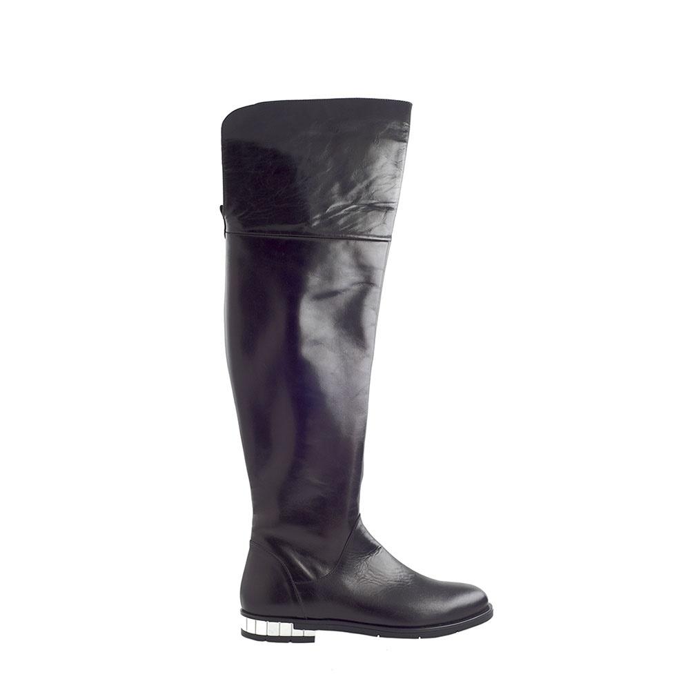 CHANIOTAKIS – Γυναικείες μπότες over the knee CHANIOTAKIS SIERRA μαύρες