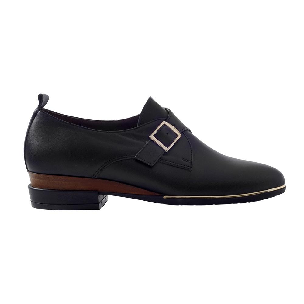 CHANIOTAKIS – Γυναικεία παπούτσια loafer CHANIOTAKIS DERBY NAPPA μαύρα