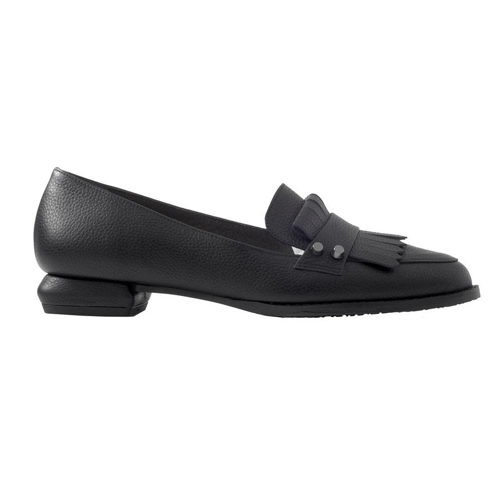 CHANIOTAKIS – Γυναικεία παπούτσια loafer CHANIOTAKIS NATURAL μαύρα