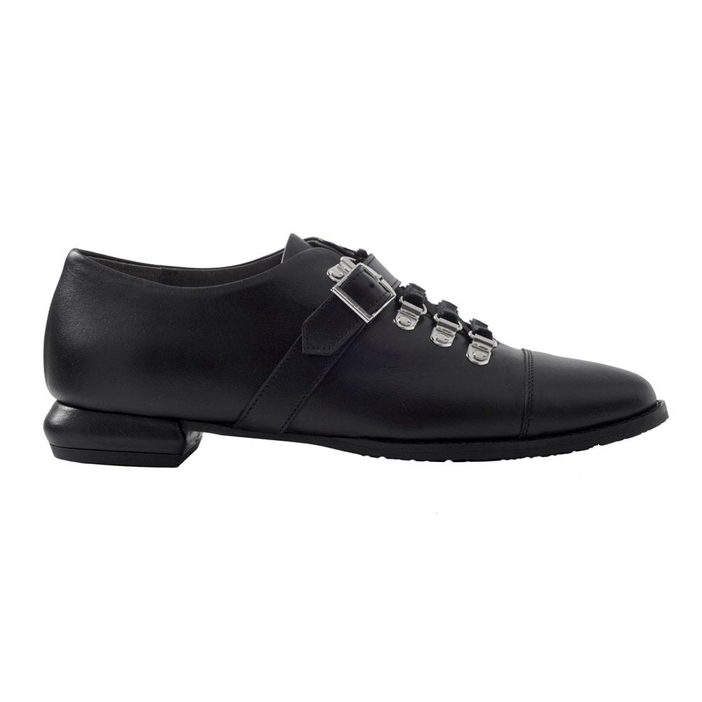 CHANIOTAKIS – Γυναικεία παπούτσια oxford CHANIOTAKIS TRESOR μαύρα