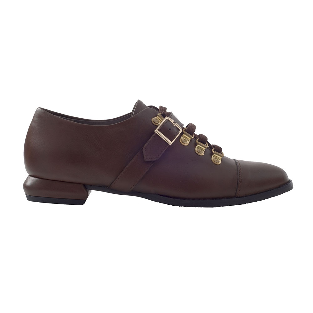CHANIOTAKIS – Γυναικεία παπούτσια oxford CHANIOTAKIS TRESOR καφέ