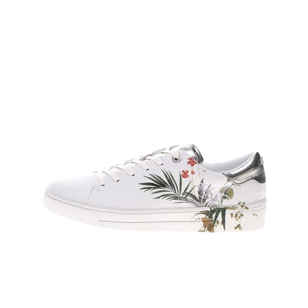 TED BAKER – Γυναικεία sneakers TED BAKER PENIL HIGHLAND EXOTIC DETAIL T λευκά