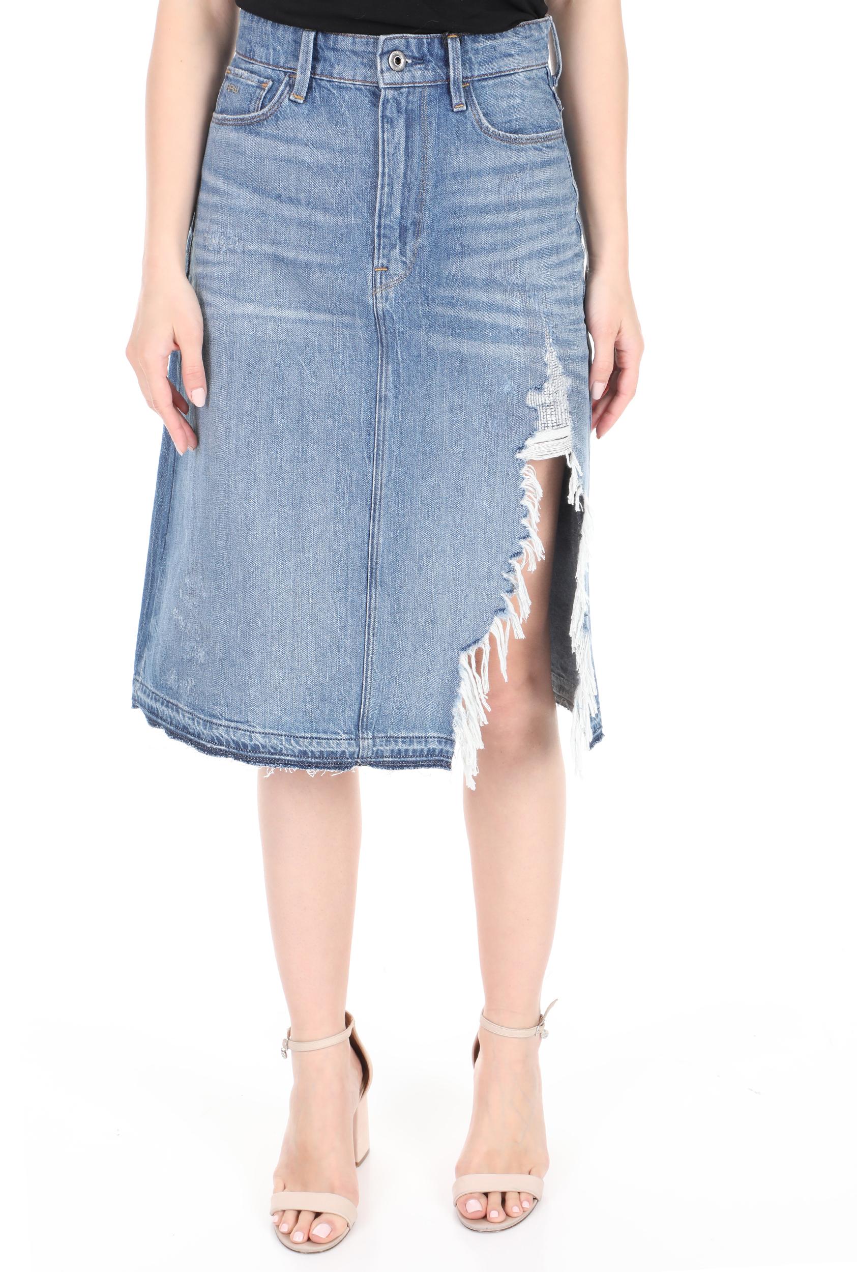 G-STAR RAW - Γυναικεία jean midi φούστα G-STAR RAW μπλε