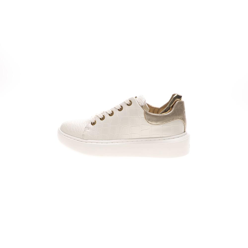 GUESS – Γυναικεία sneakers GUESS BRAYLIN λευκά χρυσά