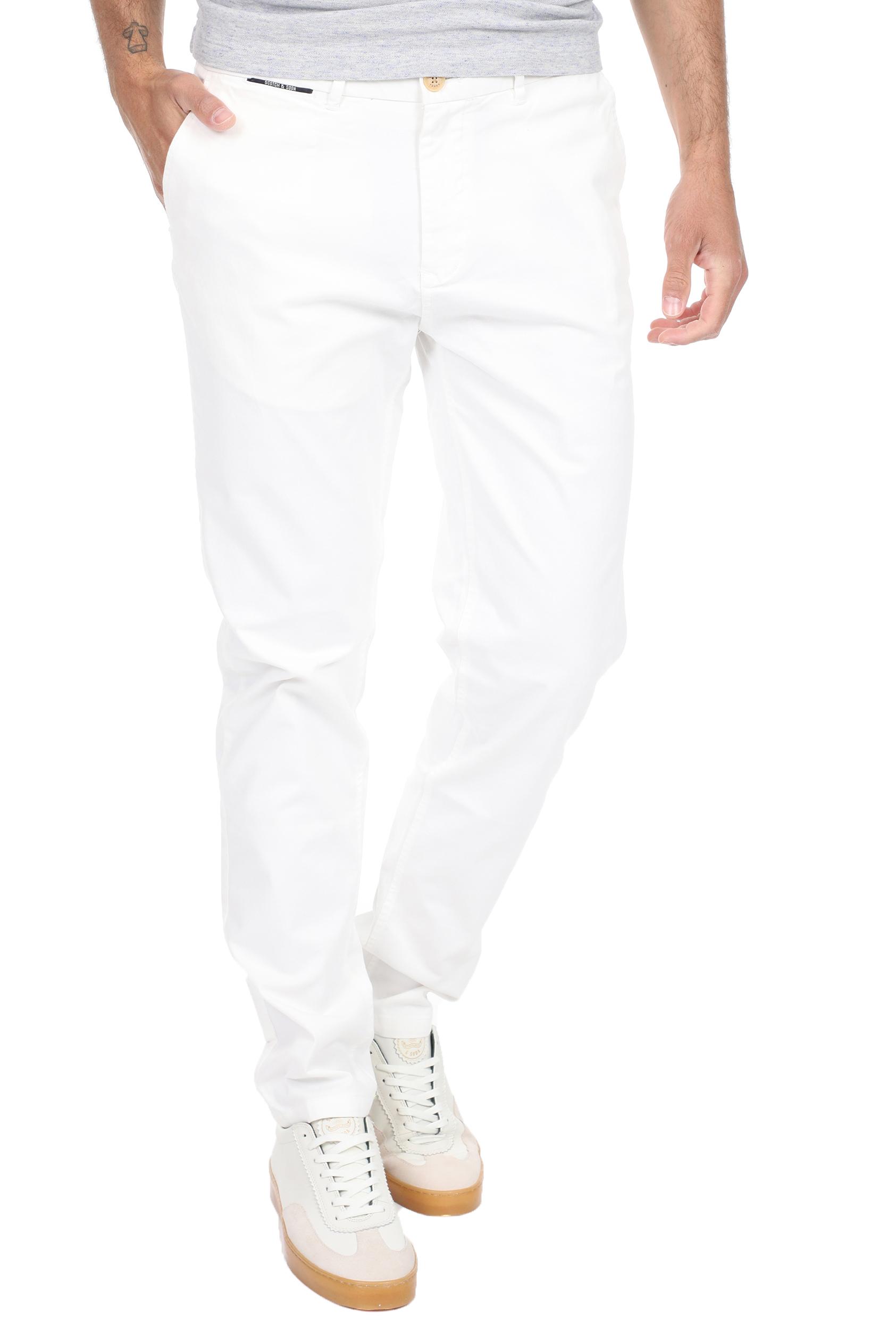 SCOTCH & SODA - Ανδρικό chino παντελόνι SCOTCH & SODA STUART λευκό