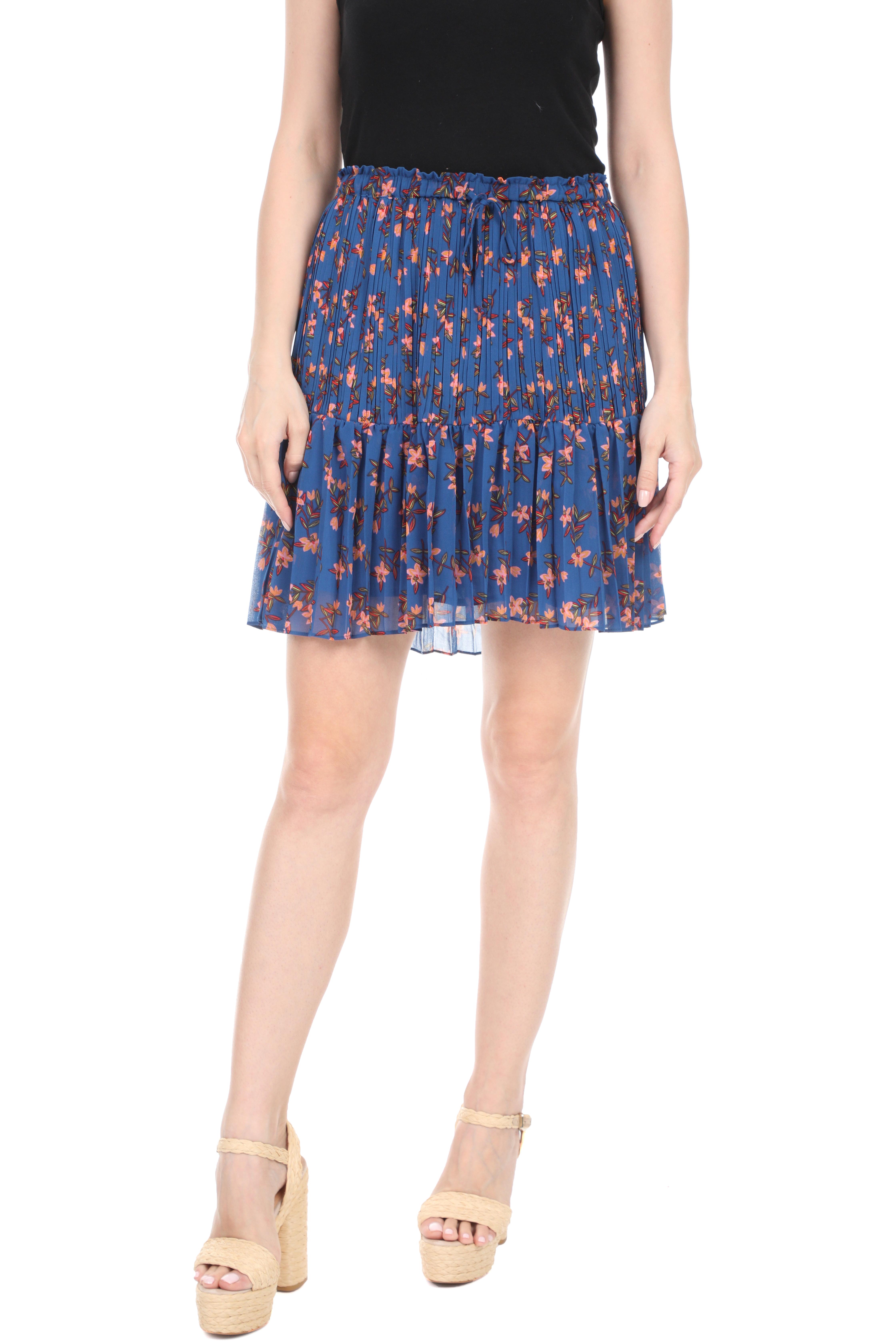 SCOTCH & SODA - Γυναικεία πλισέ mini φούστα SCOTCH & SODA μπλε