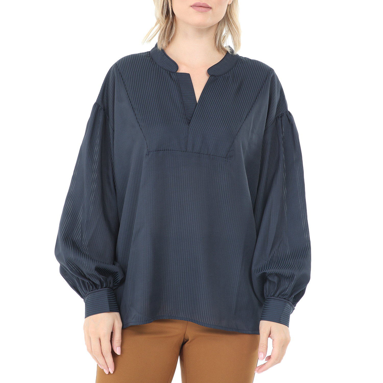 NUMPH - Γυναικεία πουκαμίσα NUMPH μπλε