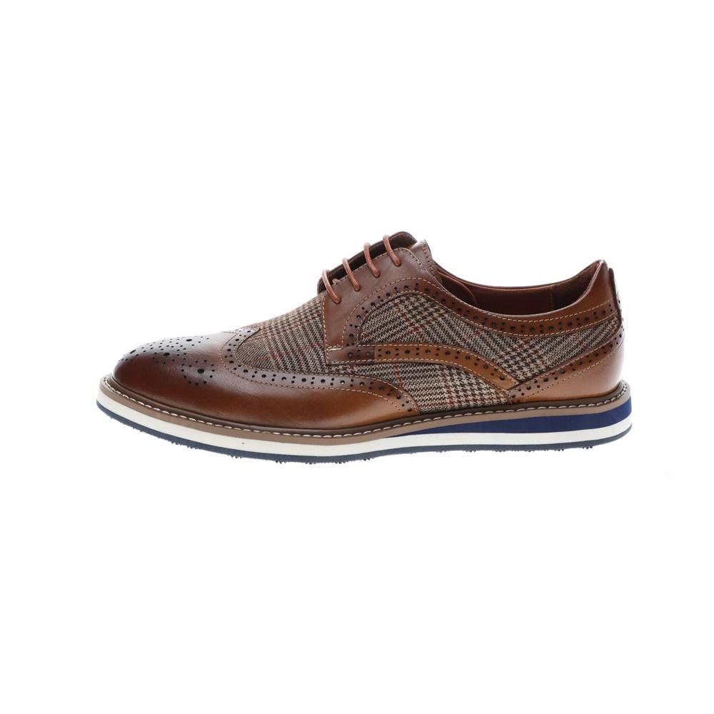 19V69 ITALIA – Ανδρικά casual δετά παπούτσια 19V69 ITALIA καφέ