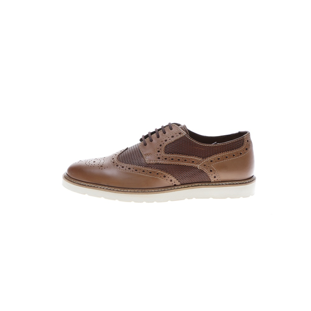 GIACOMO CARLO – Ανδρικά casual δετά παπούτσια GIACOMO CARLO καφέ