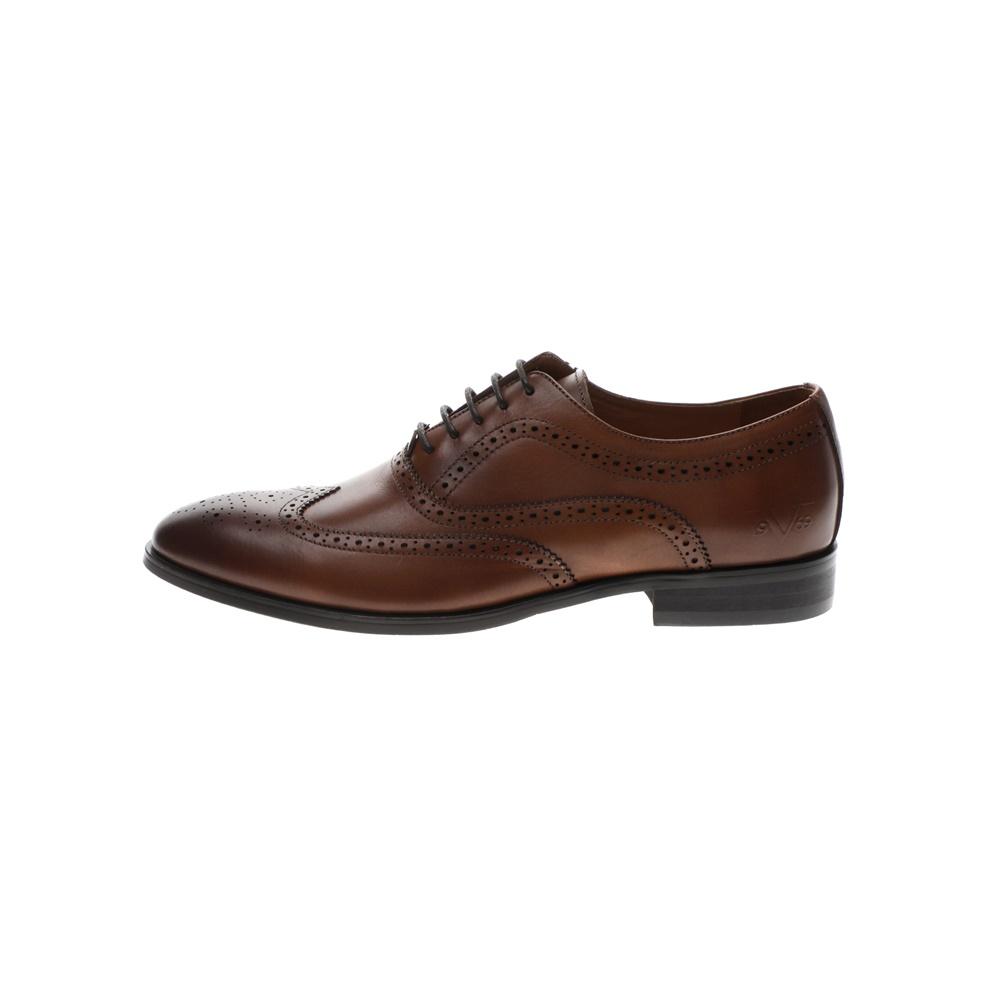 19V69 ITALIA – Ανδρικά δετά παπούτσια 19V69 ITALIA BROGUE WAXED καφέ