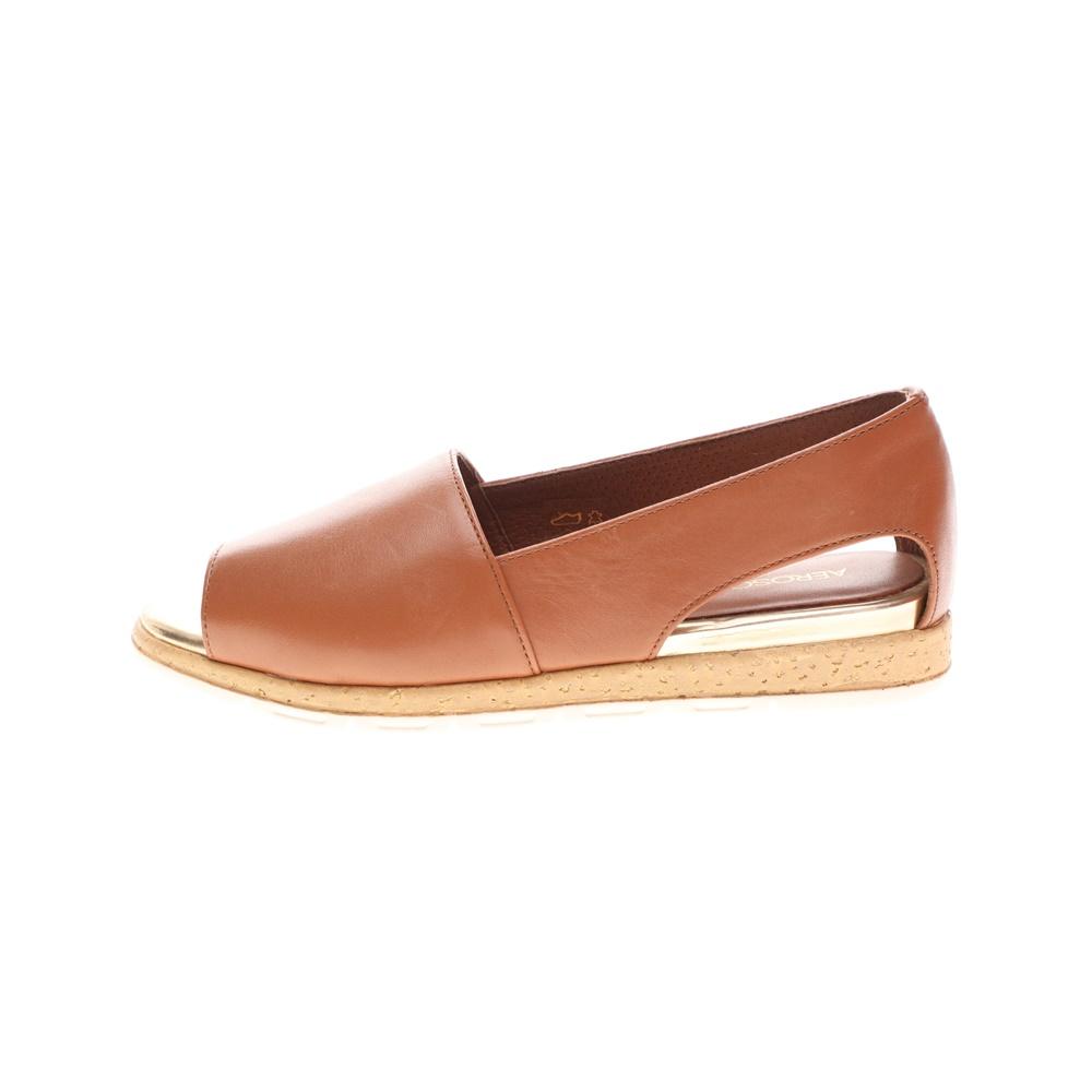 AEROSOLES – Γυναικείες peep toes εσπαντρίγιες AEROSOLES καφέ