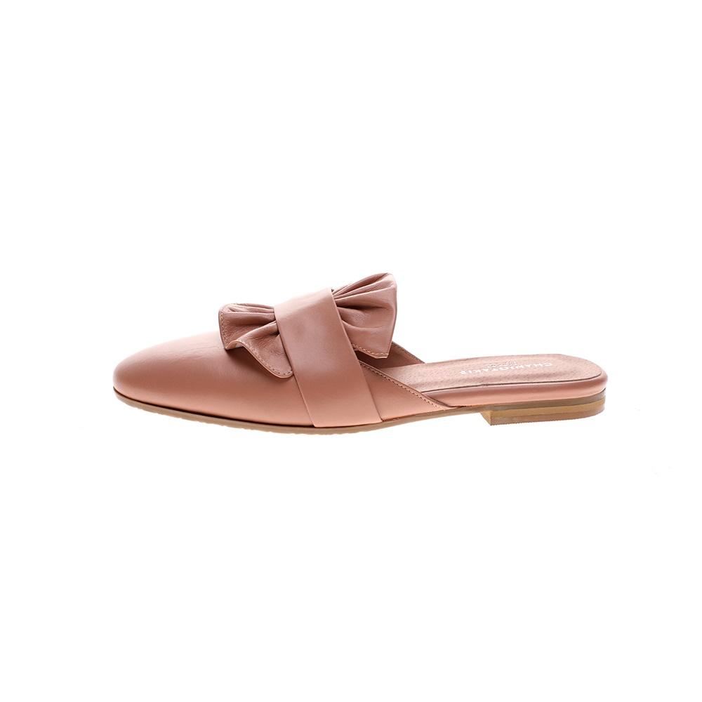 CHANIOTAKIS – Γυναικεία φλατ mules CHANIOTAKIS MULE TRESOR ροζ