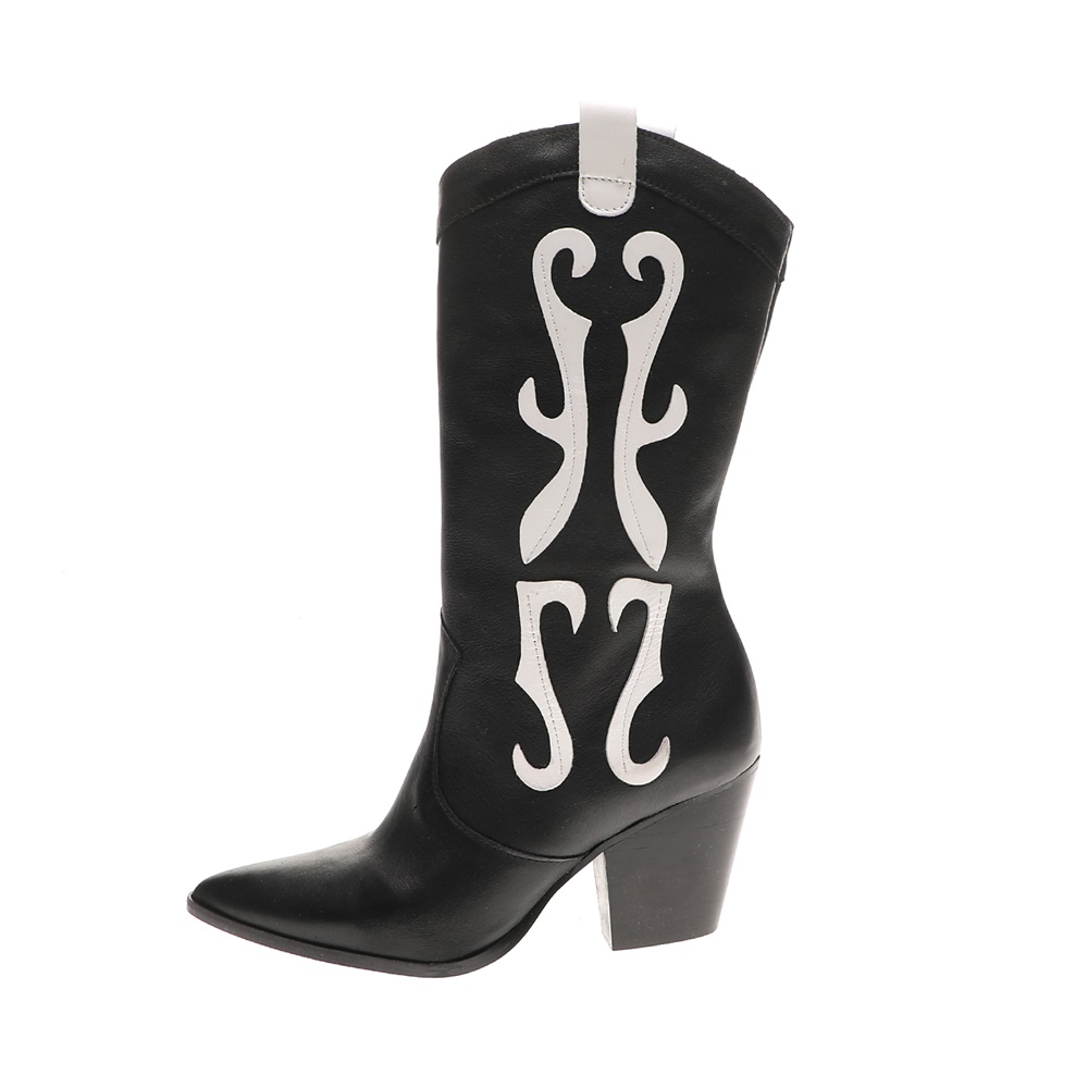 WALL STREET – Γυναικείες μπότες ADAMS WALL STREET μαύρες λευκές