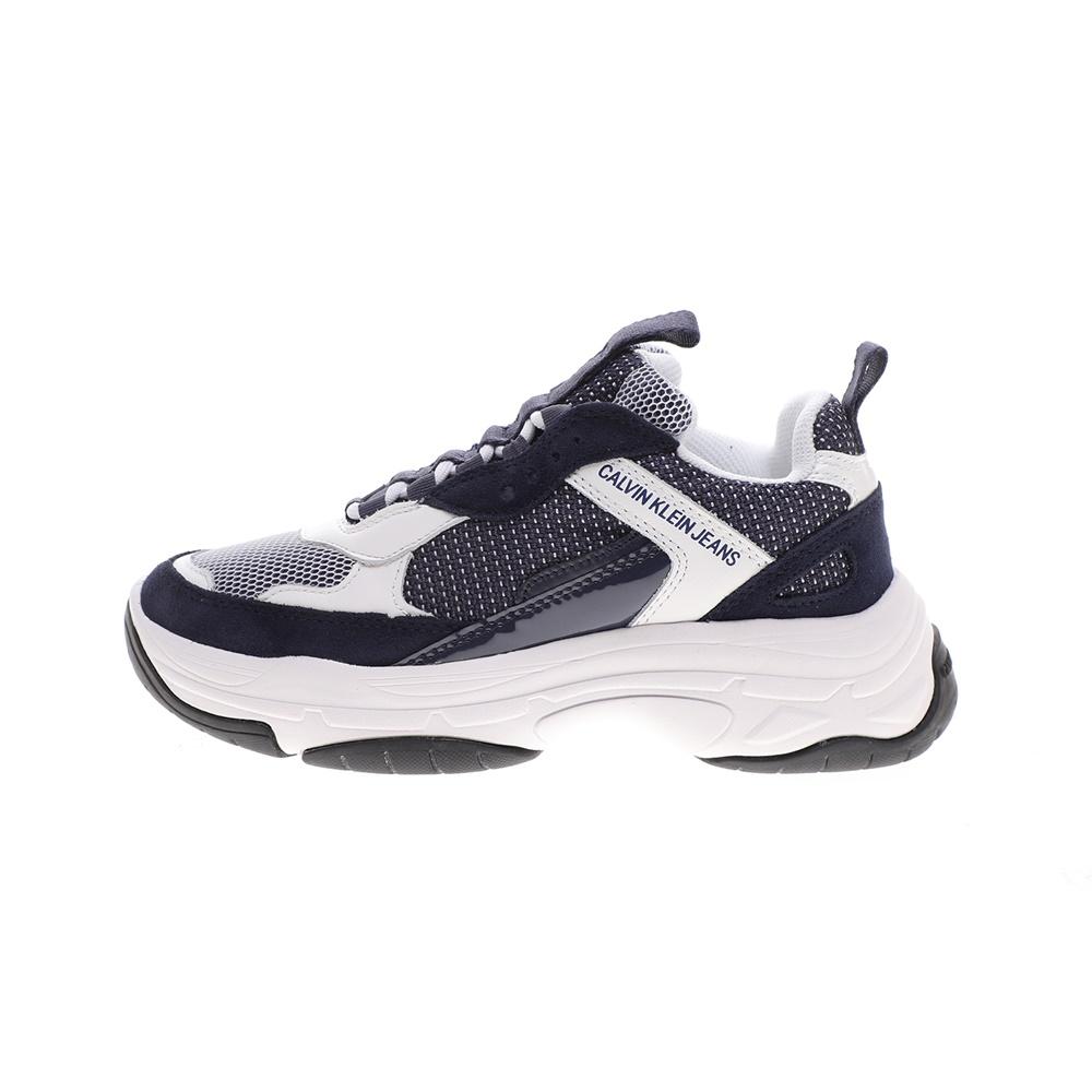 CALVIN KLEIN JEANS – Γυναικεία sneakers CALVIN KLEIN JEANS MAYA εκρού γκρι