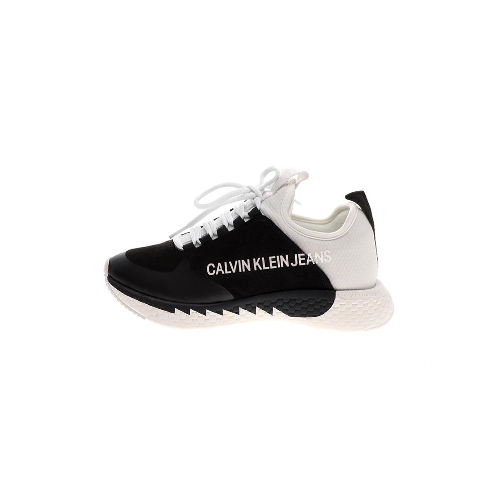 CALVIN KLEIN JEANS – Γυναικεία sneakers CALVIN KLEIN JEANS ADAMINA μαύρα λευκά