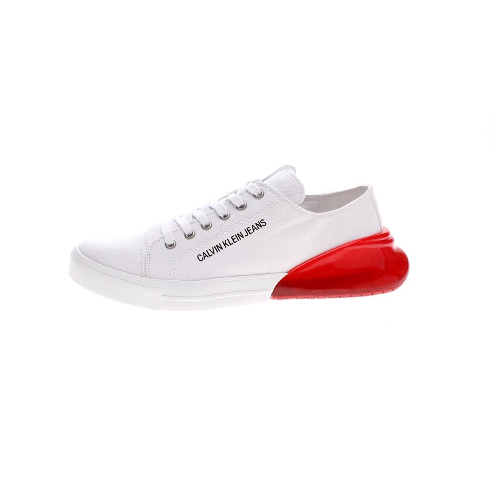 CALVIN KLEIN JEANS – Ανδρικά sneakers CALVIN KLEIN JEANS MUNRO λευκά κόκκινα